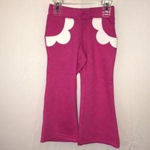 GYMBOREE NAVY w//  PINK HEART POCKET SWEATPANTS PANTS 5 6 NWT